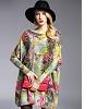 Bon plan de 30% sur un Yellow Sweater Dresses Women's Floral Print Cotton Oversized Knit Sweater