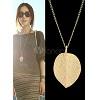 30% de remise sur Golden Leaf Pendant Necklace chez Milanoo