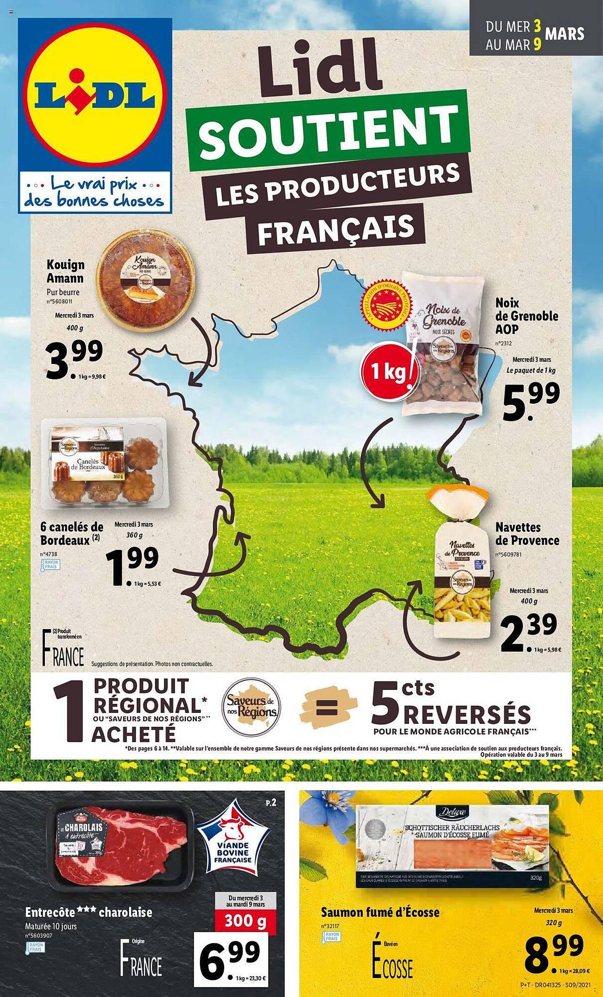 Lidl soutient les producteurs français