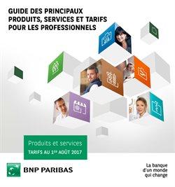 Guide des principaux produits, services et tarifs pour les professionels