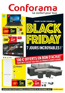 Conforama catalogue r duction et code promo juillet 2017 for Conforama black friday