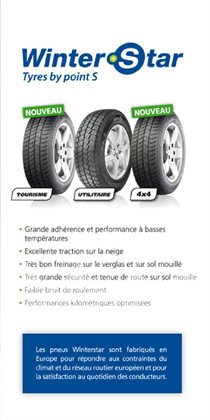 Winter Stars tyres by Point S