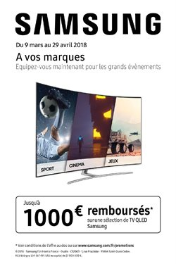 Promotion Samsung / A vos marques