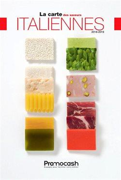 Carte des saveurs italiennes 2018-2019