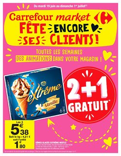 Carrefour market fête encore ses clients