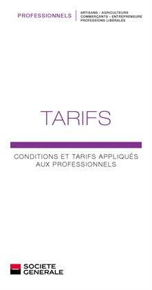 Conditions et tarifs appliqués aux professionnels