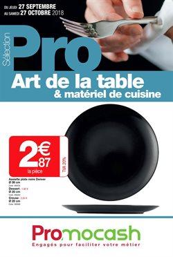Sélection Pro Art de la table et matériel de cuisine du 27 septembre au 27 octobre 2018
