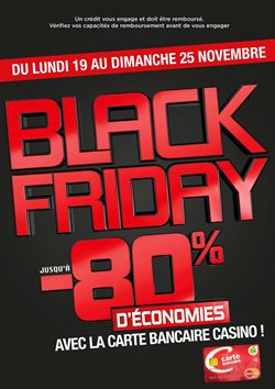 Black Friday – Bon plan carte bancaire Casino