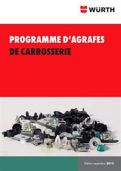 Programme d'agrafes de carrosserie