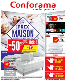 Conforama - Catalogue, réduction et code promo Novembre 2019