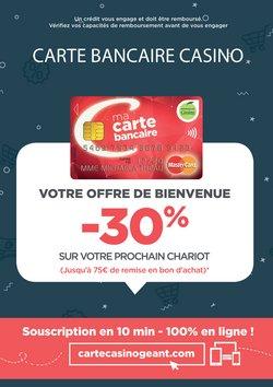 Offre de bienvenue carte bancaire Casino