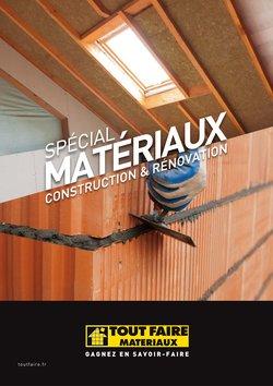 Catalogue Tout faire matériaux