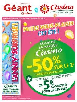 Cahier salon de la marque Casino