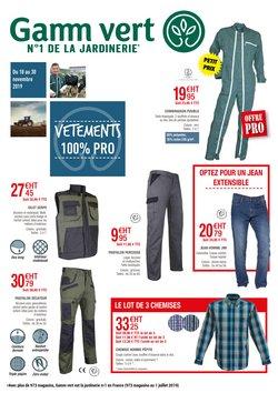 Offre Vêtements et Chaussants 100% Pro