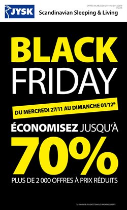 Offres JYSK Black Friday