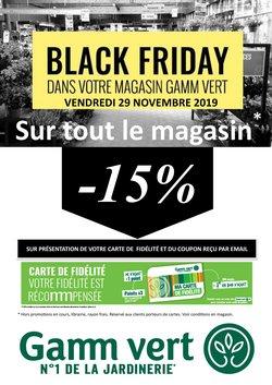 Offres Gamm vert Black Friday