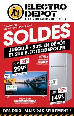 SOLDES. Jusqu'à -50% en dépôt et sur electrodepot.fr