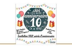 Invitation VIP anniversaire
