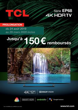 TCL VOUS REMBOURSE JUSQU'À 150€