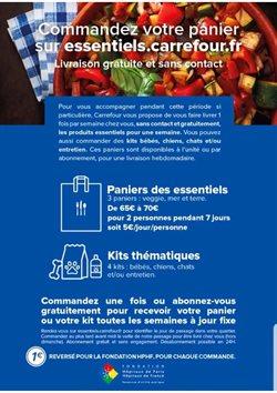 Commandez votre panier sur essentiels.carrefour.fr. Livraison Gratuite et sans contact