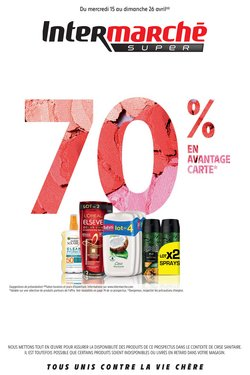 70% en Avantage carte