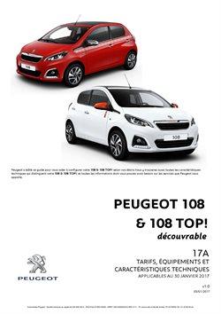 Tarifs Peugeot 108 & 108 TOPI