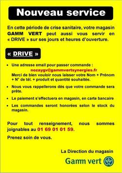 LE SERVICE DRIVE CHEZ GAMM VERT !