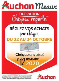 CHÈQUE REPORTÉ OCTOBRE 2020