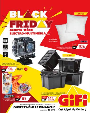 Offre Gifi Black Friday