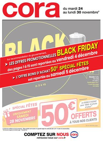 Offre Cora Black Friday