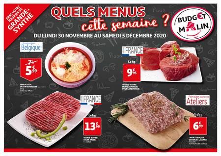 Quels menus cette semaine ?