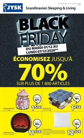 Offres JYSK Black Friday