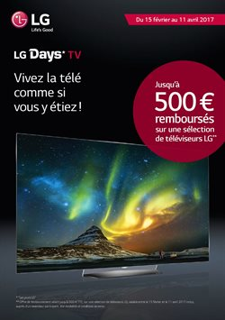 LG Days - Jusqu'à 500€ remboursés