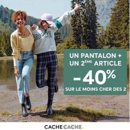 Un pantalon + un 2ème article = -40% sur le moins cher des 2