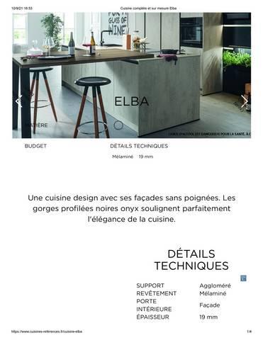 Cuisine complète et sur mesure Elba
