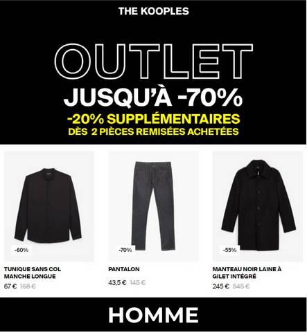 OUTLET JUSQU´Á -70% HOMME