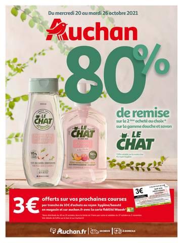 80% de remise sur le 2ème produit au choix de la gamme douche et savon