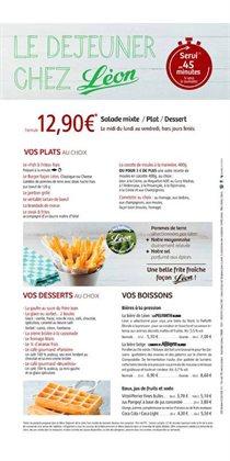 léon de bruxelles carte Léon de Bruxelles   Carte, menu et promo Mai 2020