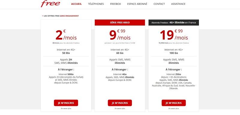 free forfait étudiant mobile