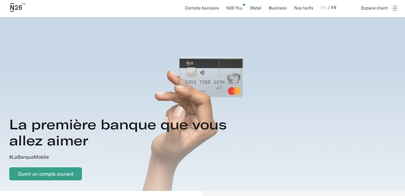 n26 mobile banque : étudiant 2019
